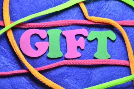 word gift Stock Photo