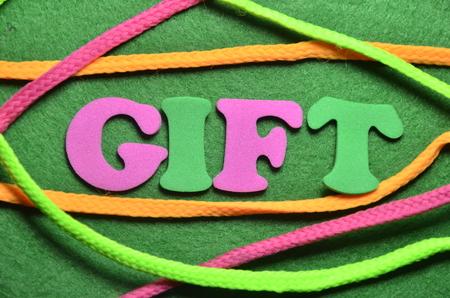 word gift Stockfoto