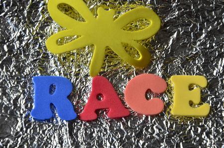 word race Stock Photo