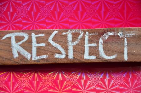 word RESPECT Stock Photo