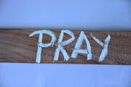 pray word Stock Photo