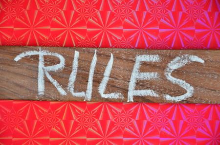 rules word Фото со стока