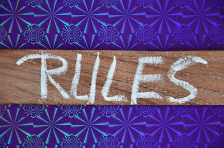 rules word Banco de Imagens