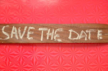save the date word 免版税图像