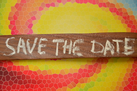 save the date word Stock Photo