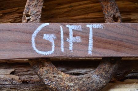 word gift Stock fotó