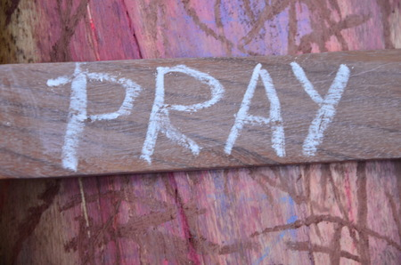 pray word Standard-Bild