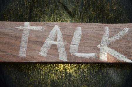TALK WORD Standard-Bild - 101670007