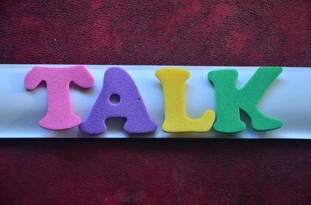 TALK WORD Standard-Bild - 101770402