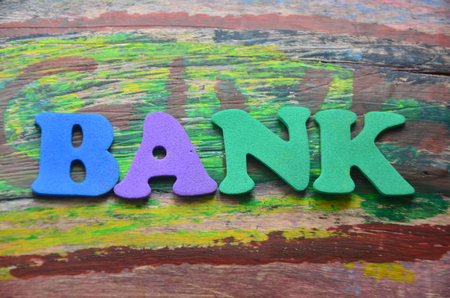 word bank Reklamní fotografie