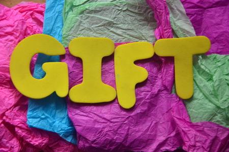 word gift Stockfoto - 101843462