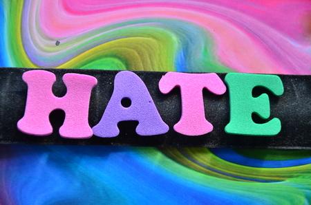 word hate Stock Photo