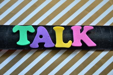 TALK WORD Standard-Bild - 101888373