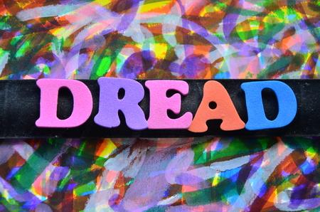 WORD DREAD Stock Photo