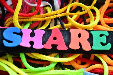 SHARE WORD Stock Photo