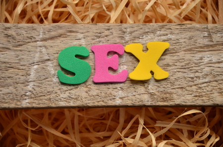 WORD SEX Standard-Bild