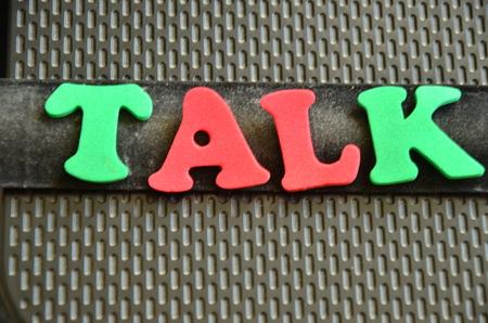 TALK WORD Standard-Bild - 102052868