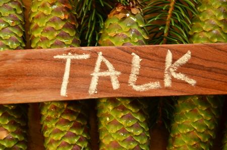 TALK WORD Standard-Bild - 102053146