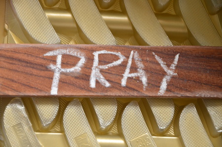 pray word Stock Photo