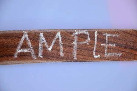 AMPLE WORD Reklamní fotografie