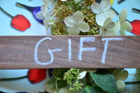 word gift Stockfoto - 102209340