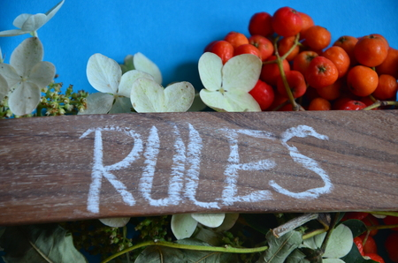 WORD RULES Stock fotó