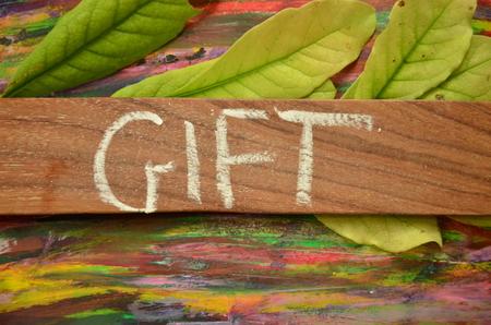word gift Stockfoto - 102220207