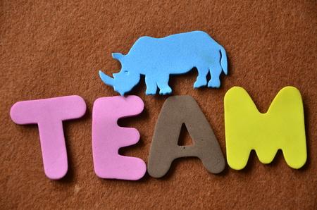 word team Stock fotó - 102268573