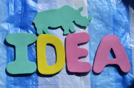Word idea Archivio Fotografico