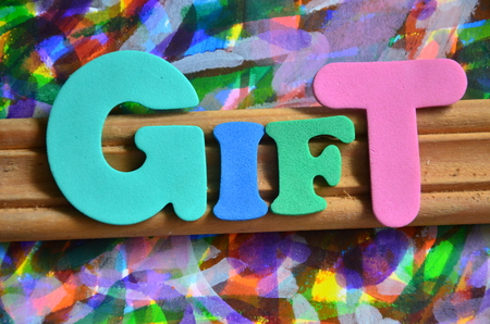word gift Standard-Bild - 102386611