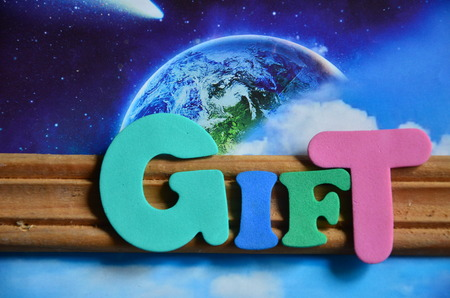 word gift Stockfoto - 102386633