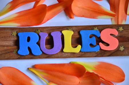 WORD RULES Stock Photo