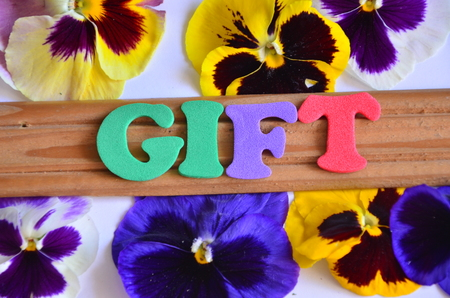 word gift Reklamní fotografie