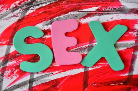 WORD SEX Stock Photo