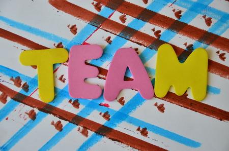 word team Stock Photo