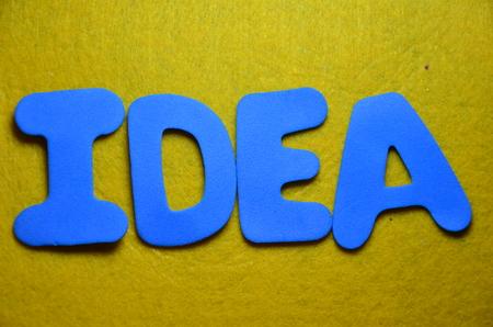 Word idea Stock Photo
