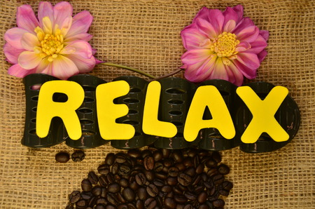 relax word Stock Photo