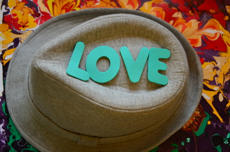 word love on an abstract background Stock Photo