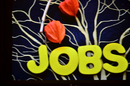word jobs on an abstract background