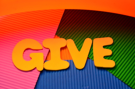 wword give on an abstract background