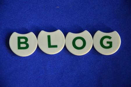 word blog on an abstract background Standard-Bild - 104185750
