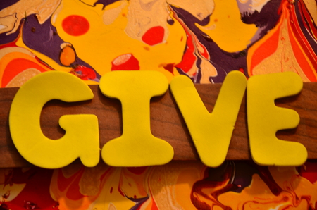 give word on an abstract background Фото со стока