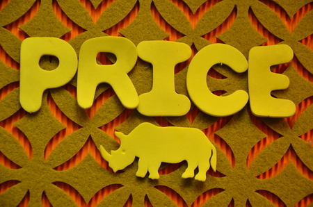 Word price on an abstract background