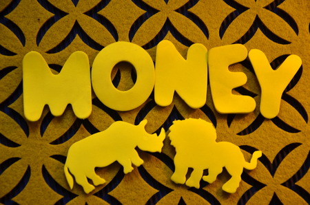 word money on an abstract background Stock Photo