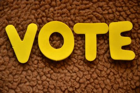 抽象的な背景に関する単語投票