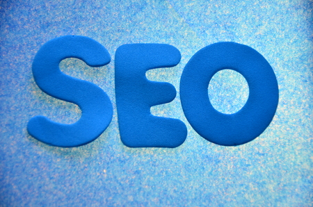 word seo on an abstract background 写真素材