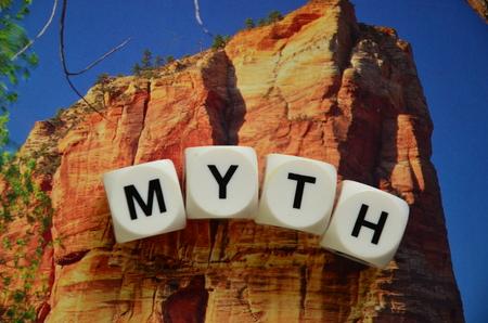word myth Stock Photo