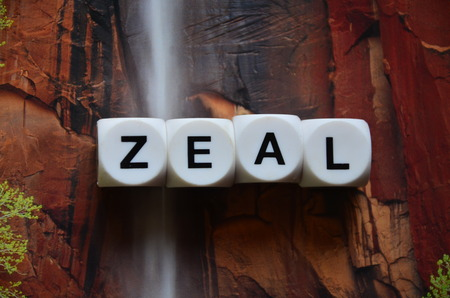 word zeal on an abstract colored background