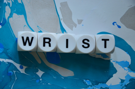 word wrist on an abstractly colored background