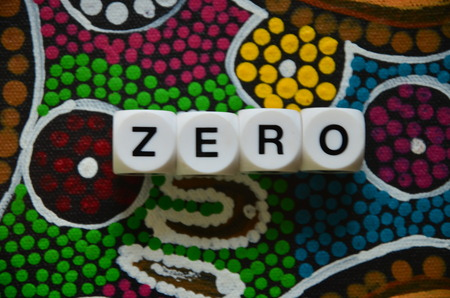 word zero Standard-Bild - 103757839